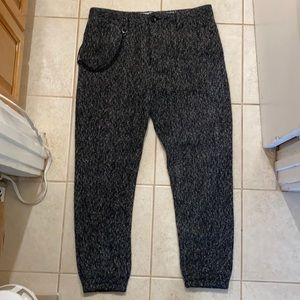 Publish Wool Poly Jogger Trousers w/ Hip Chain